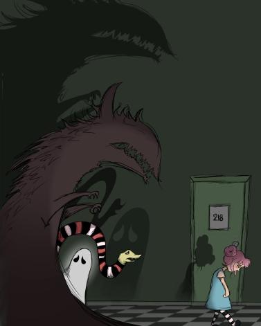 Monsters following elle